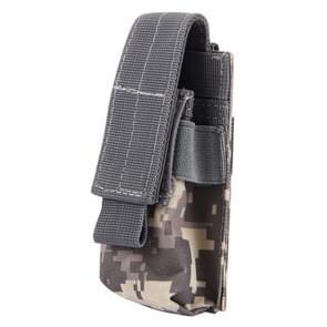M5 multifunctionele Outdoor sporten Mini Draagbare zaklamp beschermende dekking / zak  maat: 15 x 4.7 x 2 cm (donkerblauw)