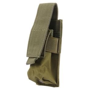 M5 multifunctionele Outdoor Sport Mini Draagbare zaklamp beschermkap / zak  maat: 15 x 4.7 x 2 cm(Green)
