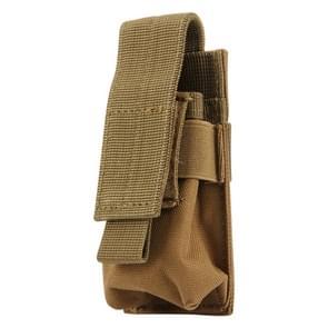 M5 multifunctionele Outdoor Sport Mini Draagbare zaklamp beschermkap / zak  maat: 15 x 4.7 x 2 cm(Brown)