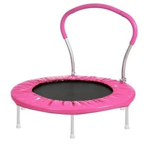 [US Warehouse] 36 inch Outdoor Activity Small Round Trampoline Bouncing Bed with Handle(Pink)