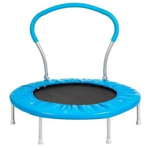 [US Warehouse] 36 inch Outdoor Activity Small Round Trampoline Bouncing Bed with Handle(Blue)
