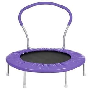 [US Warehouse] 36 inch Outdoor Activity Small Round Trampoline Bouncing Bed with Handle(Purple)