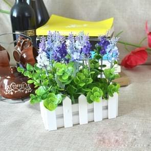 Houten plantenbak hek opslag houder bloempot zonder schuim  grootte: 10 cm x 10 cm x 7 cm