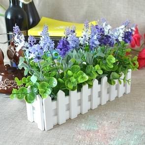 Wooden Flower Planter Fence Storage Holder Pot without Foam, Size: 40cm x 9cm x 11cm