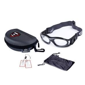 0860-01 beschermende sport bril basketbal veiligheidsbril voor kinderen met verstelbare Strap(Black)