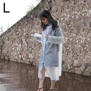Modieuze eenvoudige mannelijke en vrouwelijke studenten één transparante matte regenjas (blauw L)