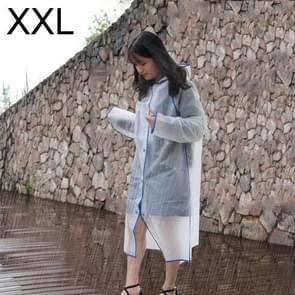 Modieuze eenvoudige mannelijke en vrouwelijke studenten één transparante matte regenjas (blauwe XXL)