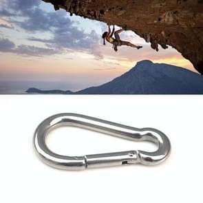 M10 Stainless Steel Carabiner Spring Hook Multi-tool Mountaineering Buckle Lock Camping Hook Rope, Inner Diameter: 9.74mm