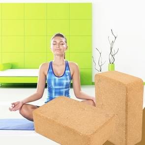 High-density natuurlijke groene smaakloos Fitness levert Auxiliary Cork Yoga baksteen (licht bruin)