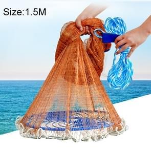 American Easy Throw Cast Net Fishing Mesh Fishing Tackle, 1.5m Tire Cords
