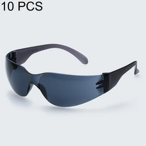10 stuks werken beschermende bril winddicht stofdicht medische bril (zwart)