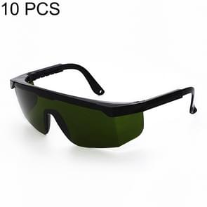 10 stuks Laser bescherming bril bril werkt beschermende bril (donkergroen)