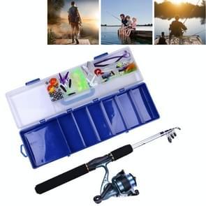 HENGJIA 150 PCS Fishing Set 6 Sections 0.44m-1.6m Portable Telescopic Fishing Pole with Fishing Reel & Baits & Treble Hooks & Fishing Supplies Gadgets