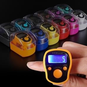 Multifunctionele Calorie gezonde digitale elektronische Pedometer stappenteller met taille Clip  hoge kwaliteit Ring teller met LED-verlichting  elektronische vinger Ring teller  willekeurige kleur levering