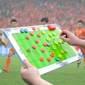 Aluminiumlegering Frame + PVC dubbelzijdige magnetische draagbare voetbal tactische opleiding begeleiding Board