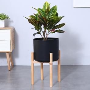 Flower Pot Set Solid Wood Flower Frame + PP Flower Pot(Black)