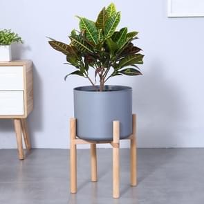 Flower Pot Set Solid Wood Flower Frame + PP Flower Pot(Grey)