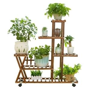 Wooden Plant Flower Display Stand Wood Pot Shelf Storage Rack