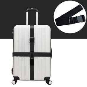 Kruis de Rainbow elastische telescopische tas Bungee Bagage verpakking reizen bagage vaste riem (zwart)