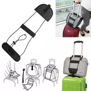2 PCS Elastic Telescopic Bag Bungee Luggage Strap Fixed Strap (Black)