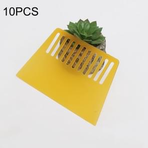10 PCS Plastic Scraper for Wallpapering  Automotive Glass Foil  Pancakes ?Decorating Tool(Yellow)
