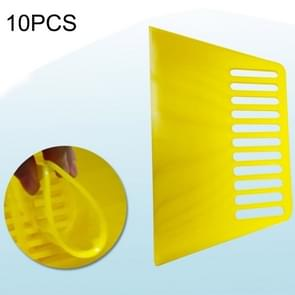 10 PCS Tendon Plastic Scraper For Wallpapering & Automotive Glass Foil & Paint Scraper Putty,Decorating Tools(Yellow)
