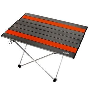 Outdoor Camping Portable Light Folding Table  Aviation Aluminum Picnic Barbecue Table L  Size:68.5x46.5x40.5cm(Silver Grey)