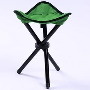Wandelen buiten Camping vissen Folding Stool draagbare driehoek stoel Maximum laden 100KG opvouwbare stoel grootte: 22 x 22 x 31cm (groen)