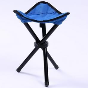 Hiking Outdoor Camping  Fishing Folding Stool Portable Triangle Chair Maximum Load 100KG Folding Chair Size:22 x 22 x 31cm(Blue)