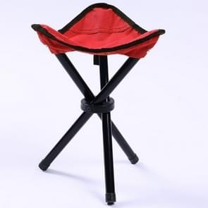 Wandelen Outdoor Camping vissen vouwen kruk draagbare driehoek stoel maximale belasting 100KG klapstoel maat: 22 x 22 x 31cm (rood)
