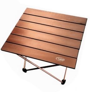 Buiten Camping draagbare licht vouwen tabel luchtvaart aluminium picknick Barbecue tabel kleine grootte: 39 5 x34. 5 x 32.5 cm (koffie)