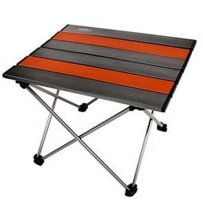 Buiten Camping draagbare licht vouwen tabel luchtvaart aluminium picknick Barbecue tabel kleine grootte: 39 5 x34. 5 x 32.5 cm (zilvergrijs)