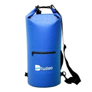 Dtudao Outdoor Waterproof Dry Bag Dry Sack with Dual Shoulder Strap & Bottle Holder, Capacity: 20L(Blue)