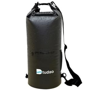 Dtudao Outdoor Waterproof Dry Bag Dry Sack with Dual Shoulder Strap & Bottle Holder, Capacity: 30L(Black)