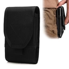 Stijlvolle multifunctionele buiten taille tas telefoon Camera beschermende Case Card zak Wallet(Black)