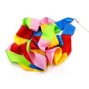 5 stuks 4m kleurrijke kinderen speelgoed dansen praktijken dansen linten met stokken  willekeurig patroon levering