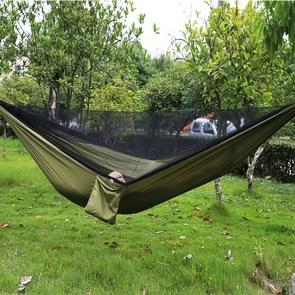 Portable Outdoor Parachute Hammock with Mosquito Nets (Army Green)