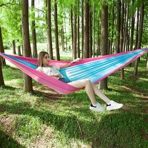 Portable Outdoor Parachute Hammock with Mosquito Nets (Pink Blue)