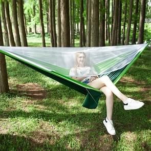 Portable Outdoor Parachute Hammock with Mosquito Nets (Green)