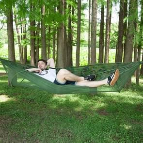 Portable Outdoor Camping Full-automatic Nylon Parachute Hammock with Mosquito Nets, Size : 290 x 140cm (Camouflage)