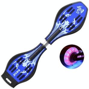 Fashion Two-wheeled Skateboard Luminous Flash Wheel Vitality Board(Blue)
