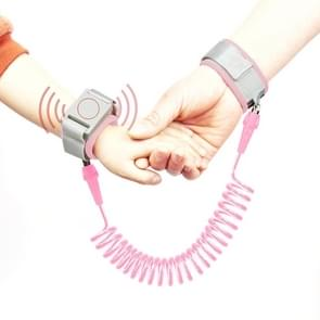 Happywalk Kids Safety Anti Lost Wrist Link Traction Rope with Induction Lock, Length: 2m(Pink)