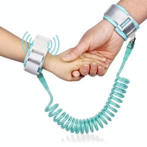Happywalk Kids veiligheid anti verloren pols link tractie kabel met inductie Lock, lengte: 2m (mint groen)