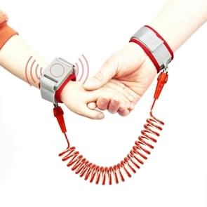 Happywalk Kids Safety Anti Lost Wrist Link Traction Rope with Induction Lock, Length: 2m(Red)