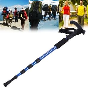 Aotu AT7555 108cm Outdoor Camping Aluminum Alloy T Handle Lock 4 Alpenstock(Blue)