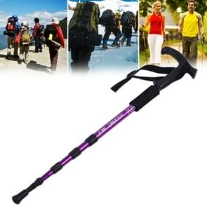 Aotu AT7555 108cm Outdoor Camping Aluminum Alloy T Handle Lock 4 Alpenstock(Purple)