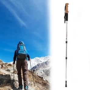 Aotu AT7551 135cm Aluminum Alloy Outdoor Camping Corky Trekking Poles(Silver)