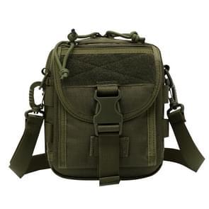 INDEPMAN DL-B020 Fashion leger stijl Oxford doek tactische pakket Crossbody tas Sling tas Hand tas Messenger Schoudertas  grootte: 17 x 15 x 8 cm(Olive)