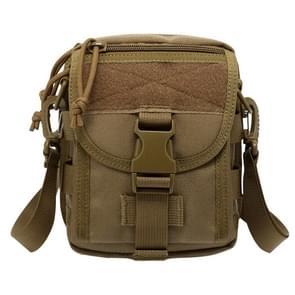 INDEPMAN DL-B020 Fashion leger stijl Oxford doek tactische pakket Crossbody tas Sling tas Hand tas Messenger Schoudertas  grootte: 17 x 15 x 8 cm(Khaki)