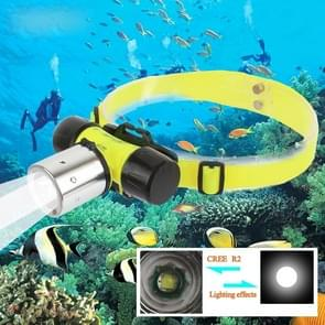 3W 350LM 1 x CREE R2 LED waterdicht buiten Zoom duiken koplamp koplicht zaklamp fietsverlichting